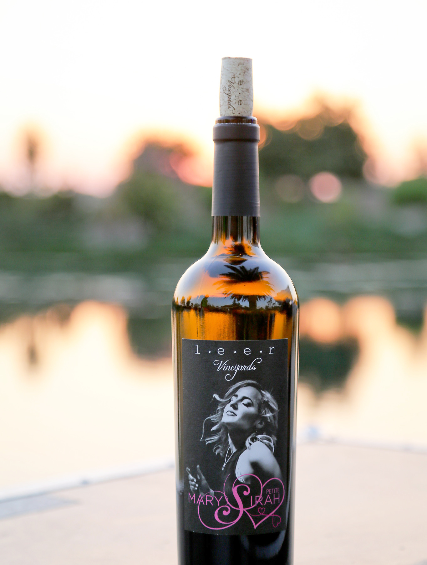 A bottle of Mary Petit Sirah wine
